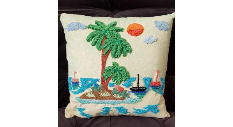 Adada Günbatımı Punch Yastık